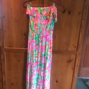 GUC Lilly Pulitzer Strapless Maxi S